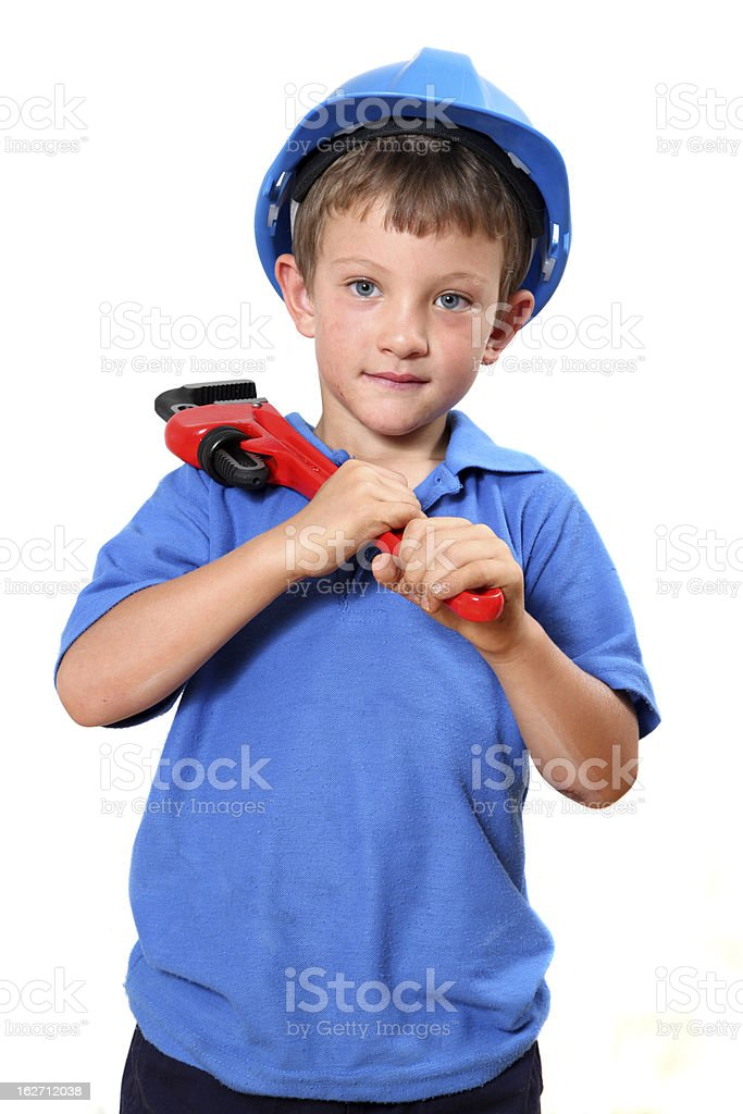 Young handyman royalty-free stock photo