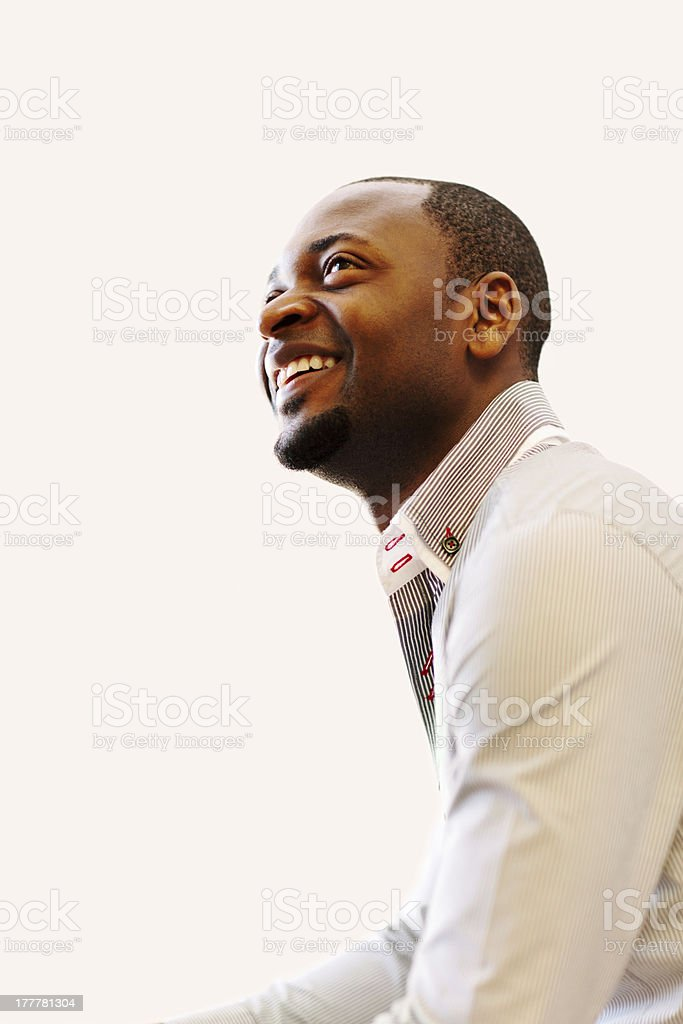 Young happy African American Christian stock photo