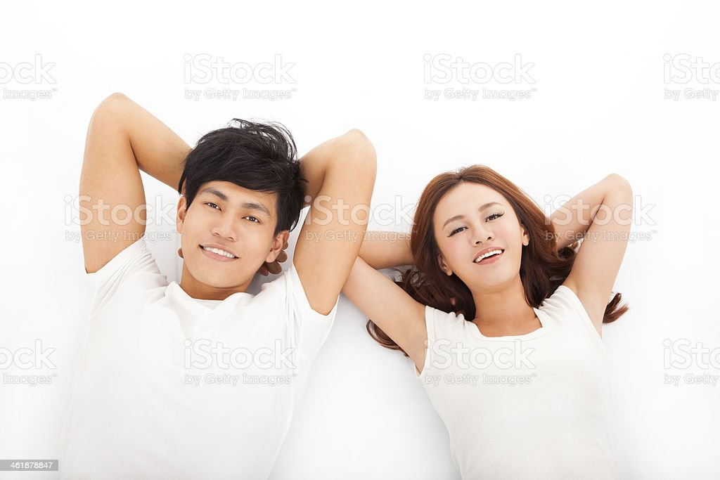 Young happy and relaxed couple stock photo