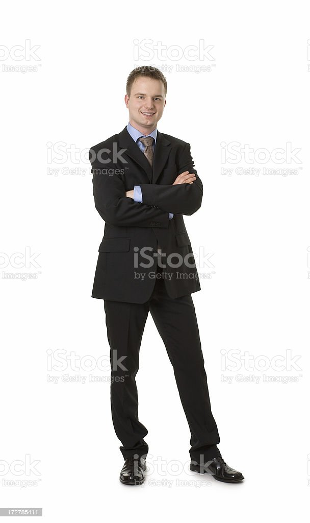 young happy businessman royalty-free stock photo