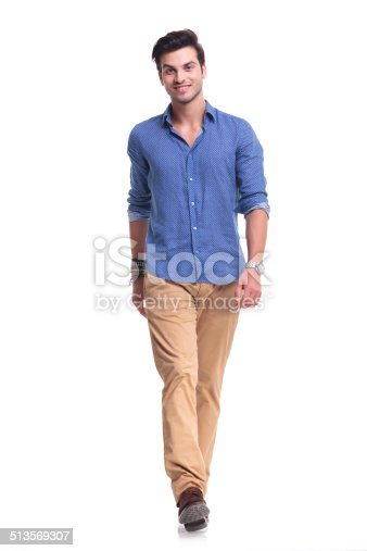 istock young happy casual man walking 513569307