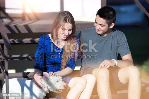 972902010istockphoto Young happy couple outdoors 486835554