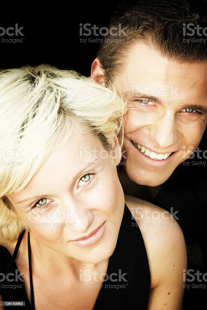 Young happy couple portrait royalty-free stock photo