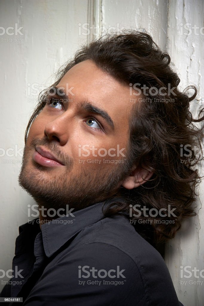 young happy cute guy royalty-free stock photo