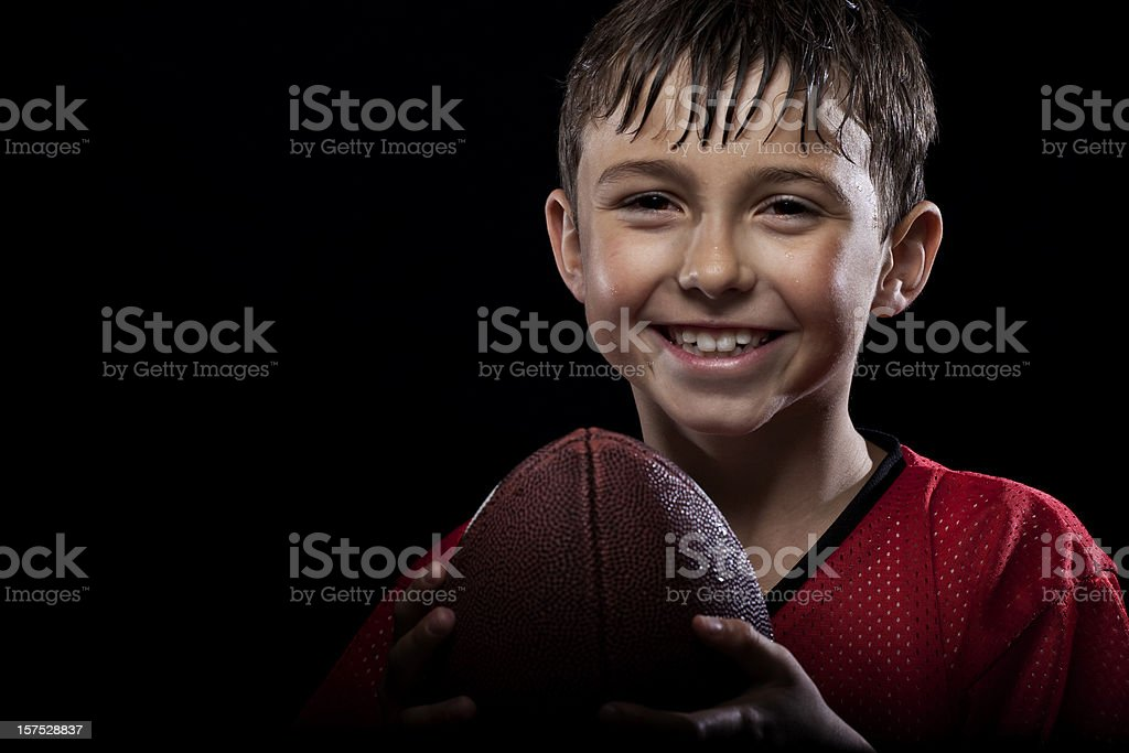 Young happy football player royalty-free stock photo