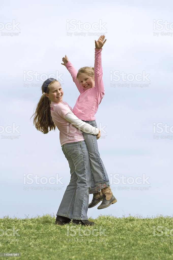 Young happy girls royalty-free stock photo