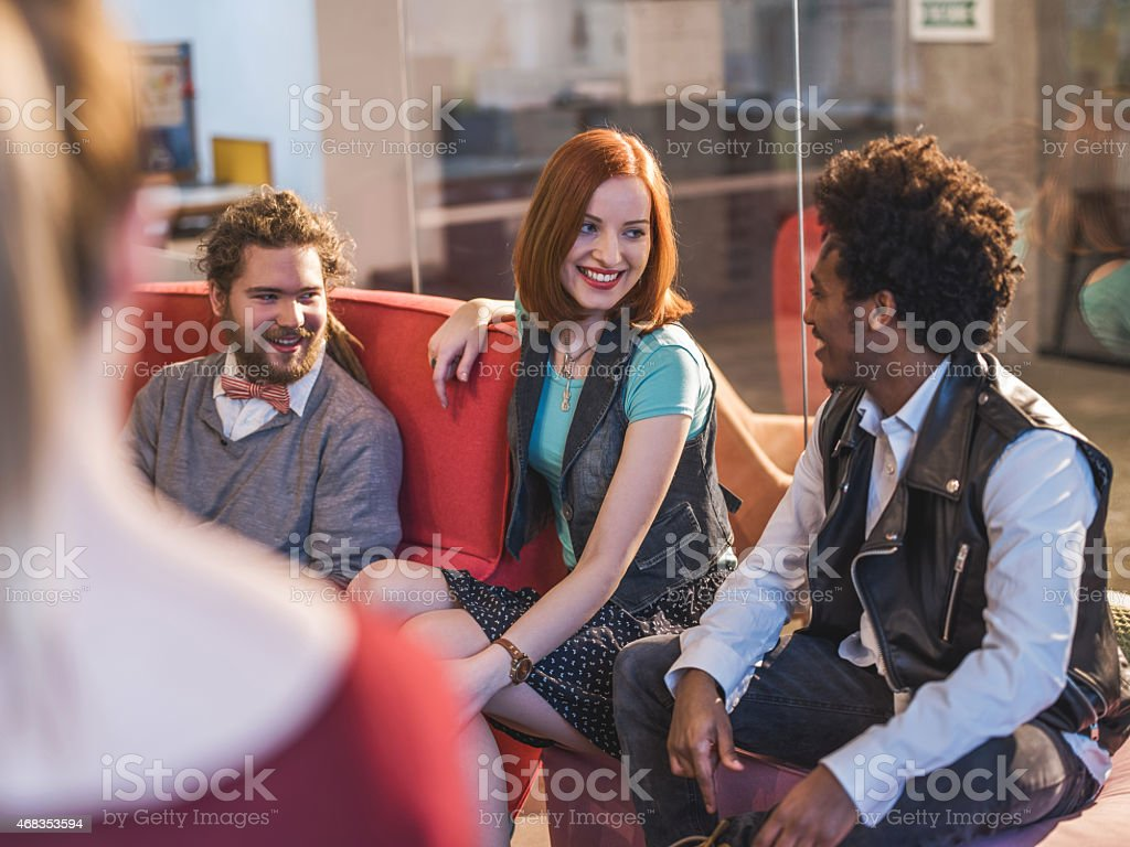 Young happy people communicating. royalty-free stock photo