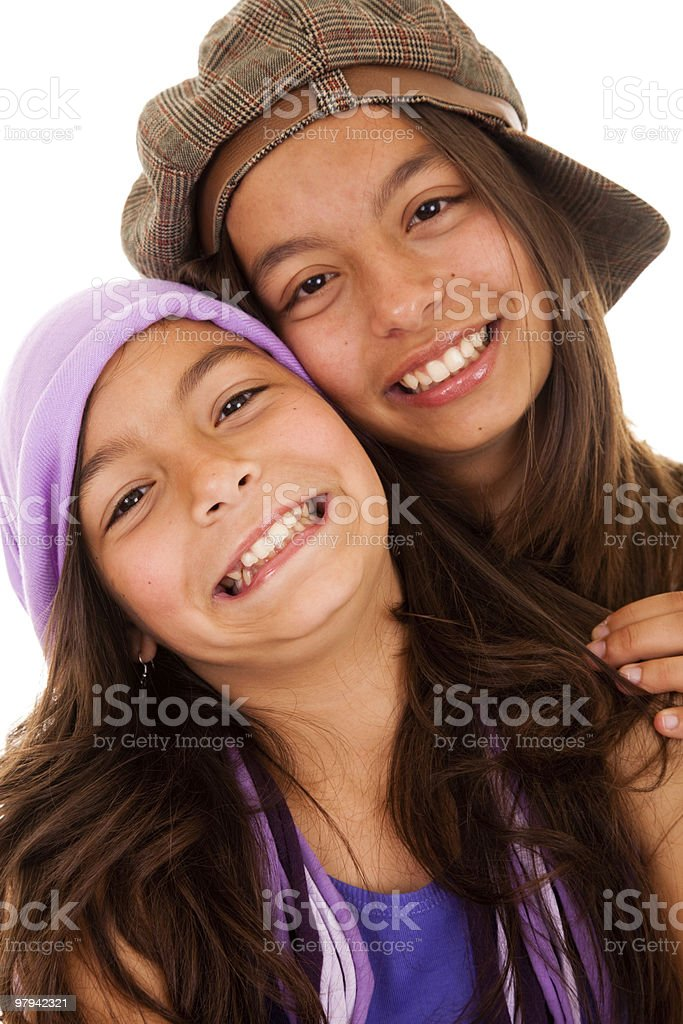 Young happy sisters royalty-free stock photo