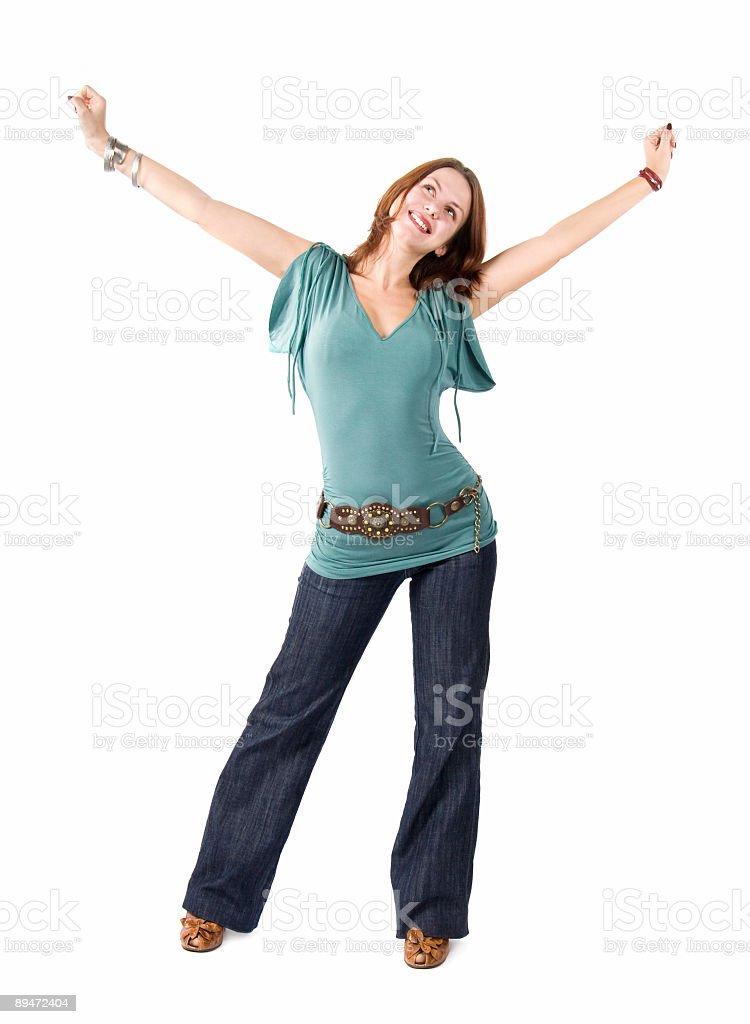 Молодой счастливая женщина упражнения Стоковые фото Стоковая фотография