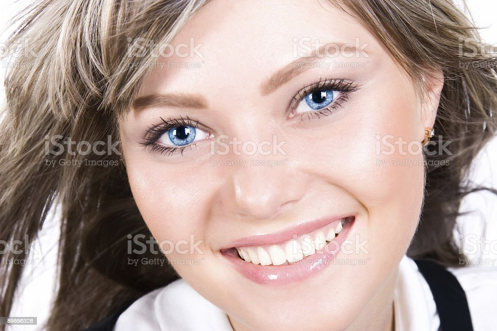 Young happy woman portrait royalty-free stock photo