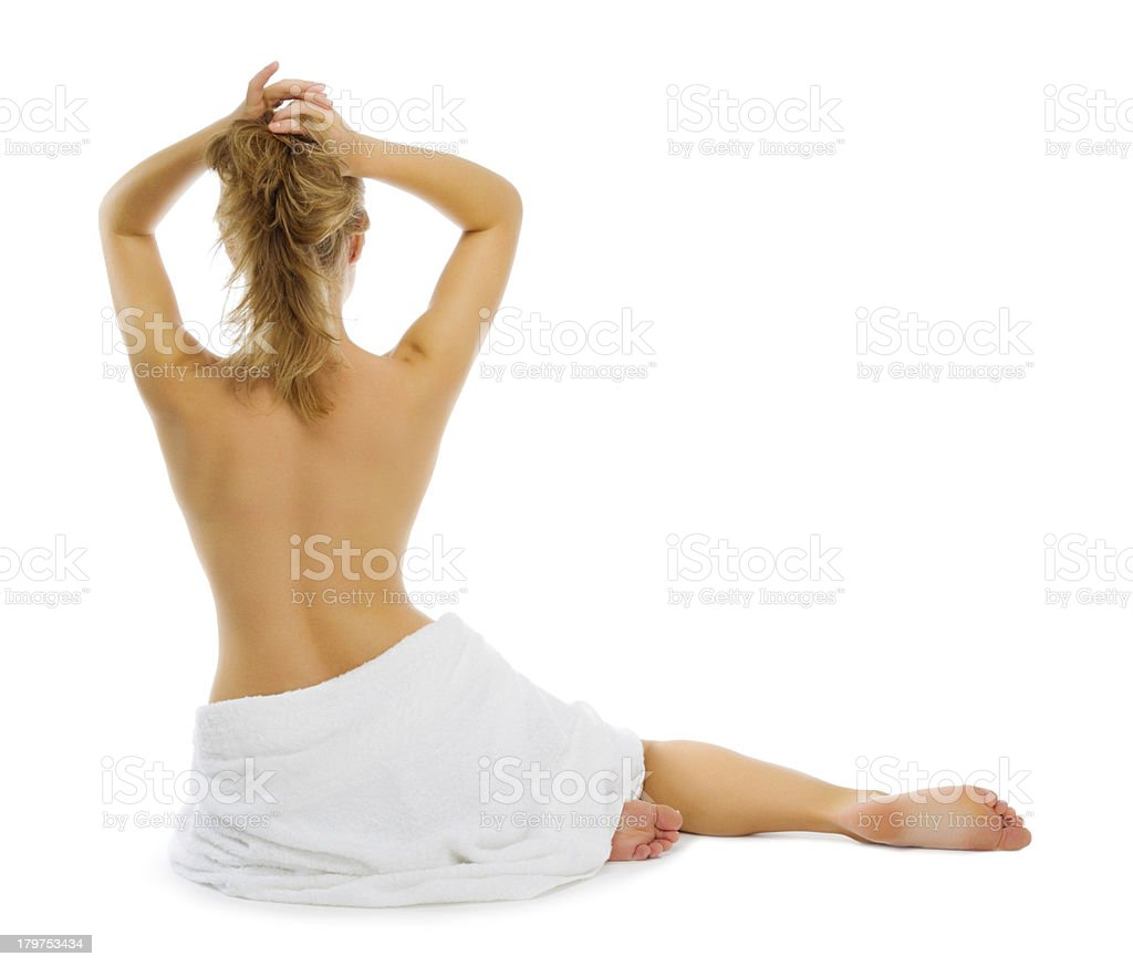 Young healthy girl isolated royalty-free stock photo