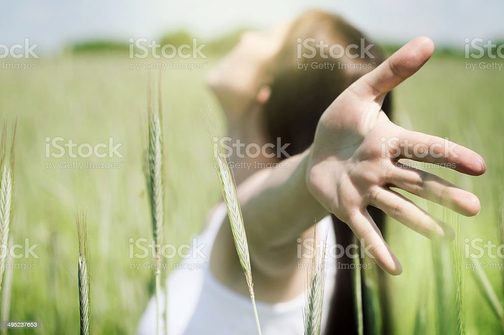 Young, healthy woman enjoying life stock photo