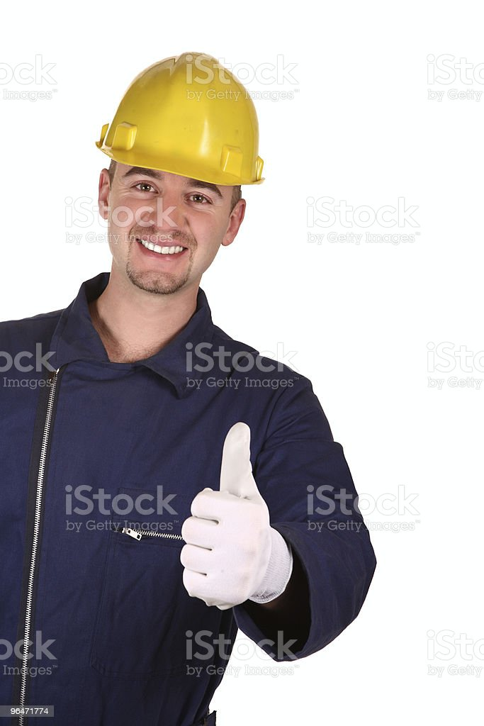 young heavy industry man background royalty-free stock photo