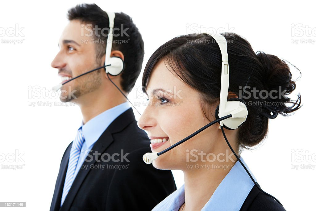 Young helpdesk operators royalty-free stock photo