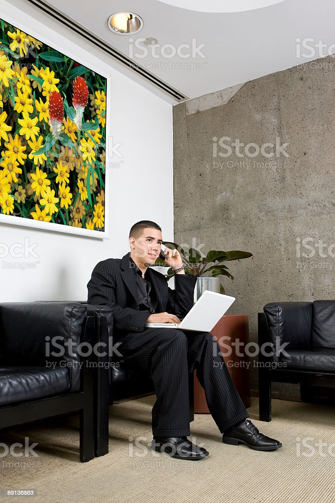 Young High Tech Businessman stock photo