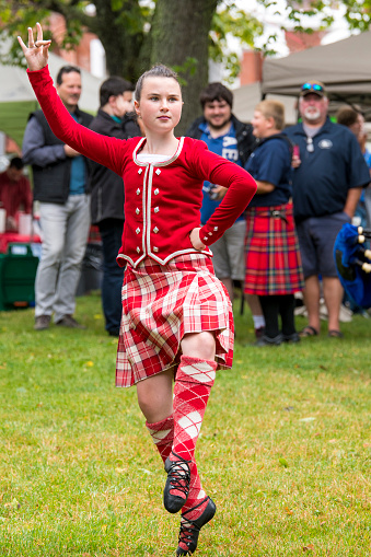 Scottish Man In Traditional National Costume Back Posing 136031579 Image Stock Photo