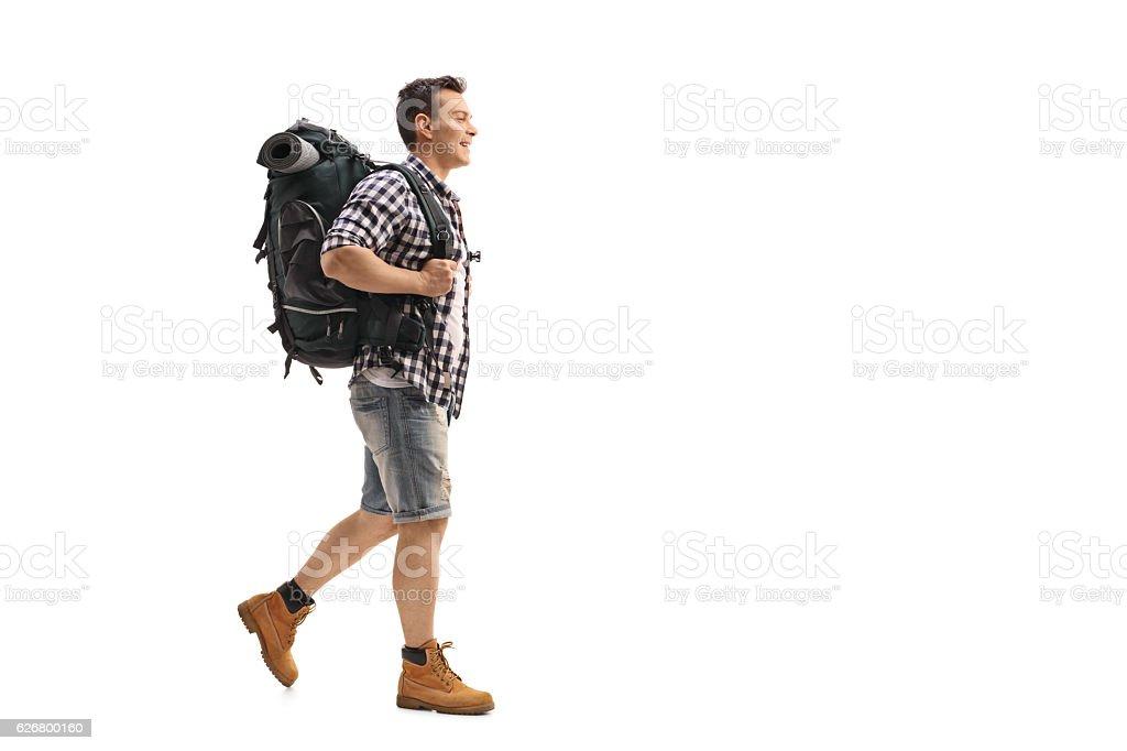 Young hiker walking – Foto