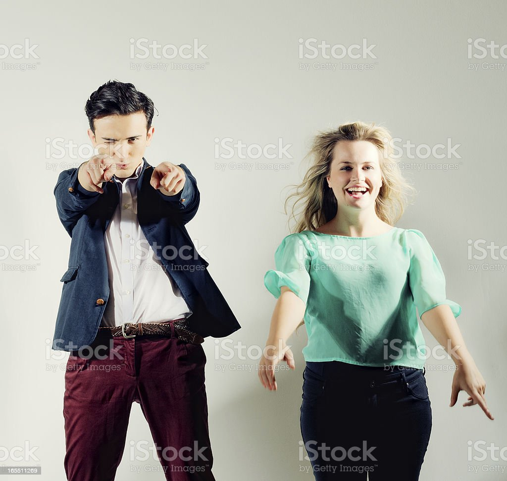 Young, Hip Urbanites Having Fun stock photo