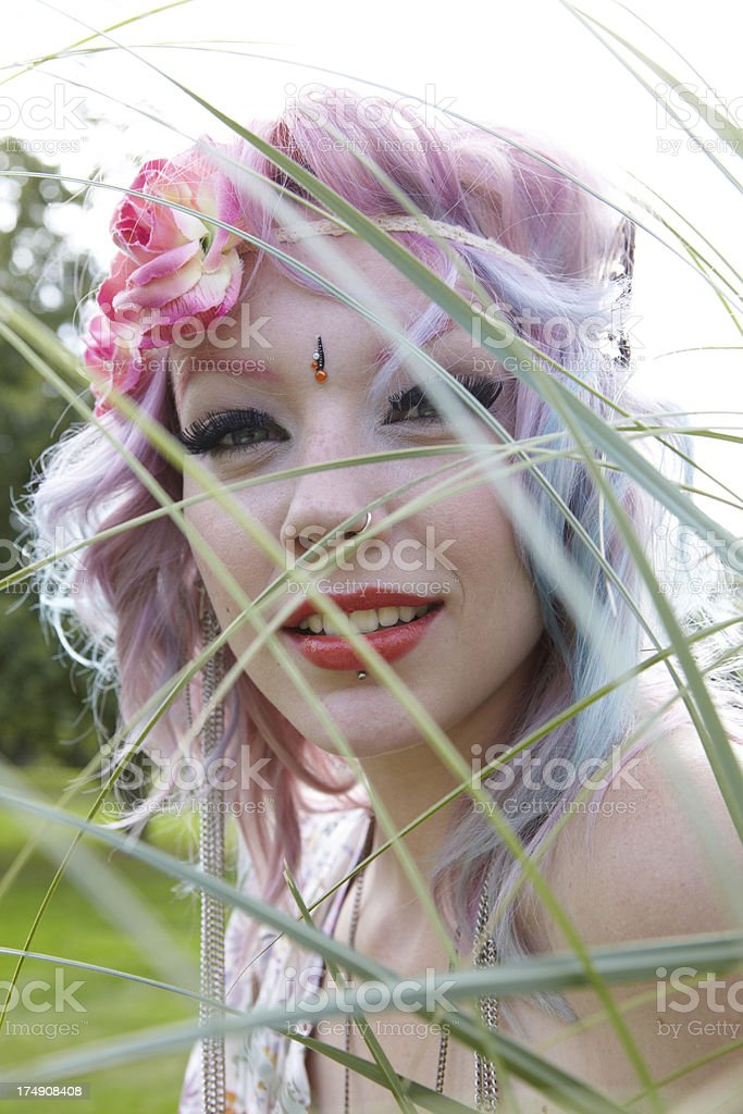 Young Hippy Woman royalty-free stock photo