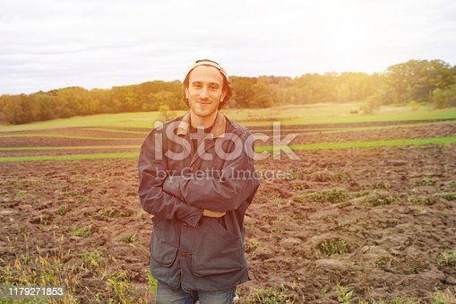 Young hipster farmer