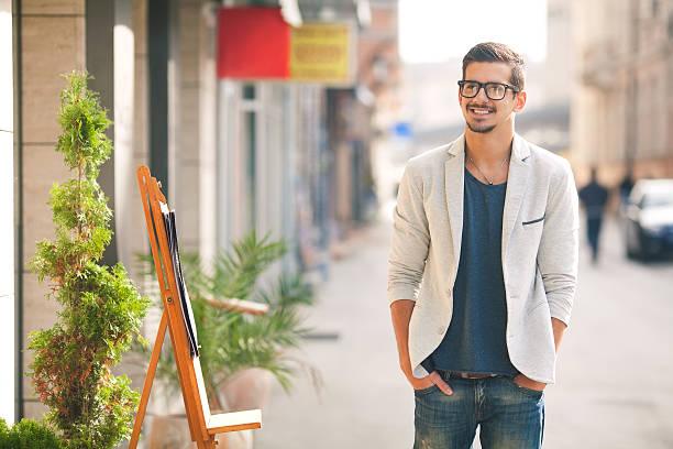 young hipster - men blazer stockfoto's en -beelden