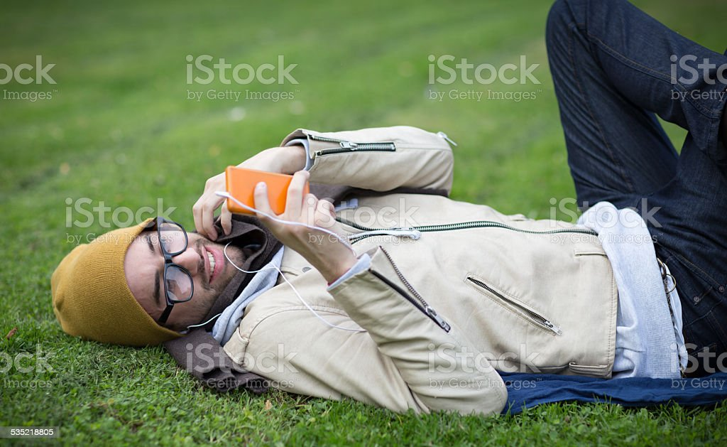 Young Hipster stock photo