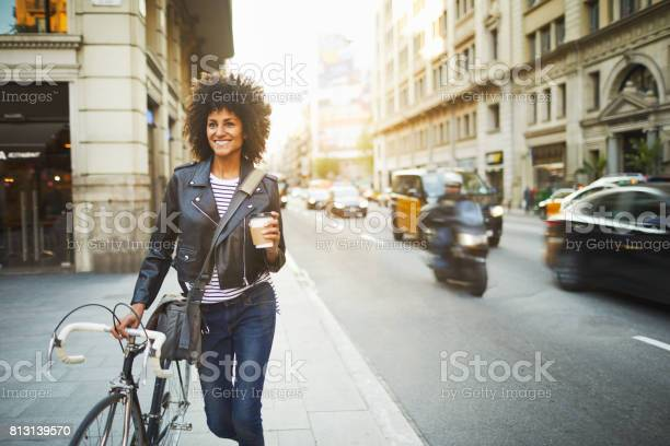 Young hipster woman in the streets of barcelona commuting picture id813139570?b=1&k=6&m=813139570&s=612x612&h=xavrihrg3vrgbvtbg014tbkfiyidky0ia4ev0ynq43e=
