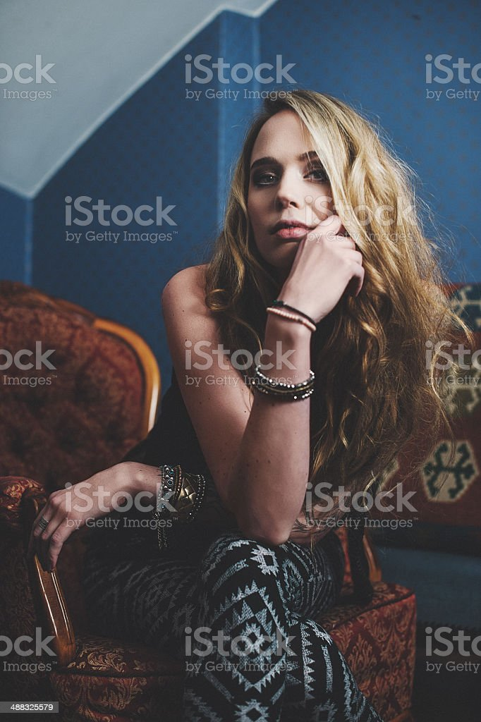 Young hipster woman royalty-free stock photo