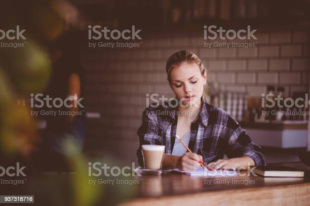 Young hipster woman working alone in modern cafe picture id937318716?b=1&k=6&m=937318716&s=612x612&h=gifzodzbgqb1h3dr bsphbqnjk2zlb1miqmxrwprkmg=