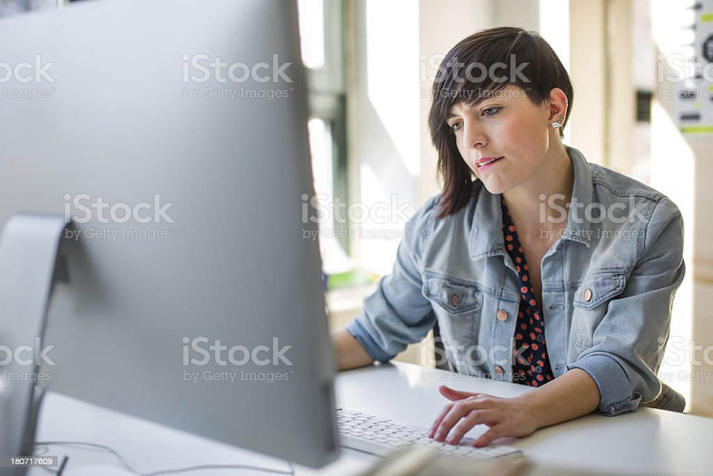 Young Hispanic Business Woman stock photo