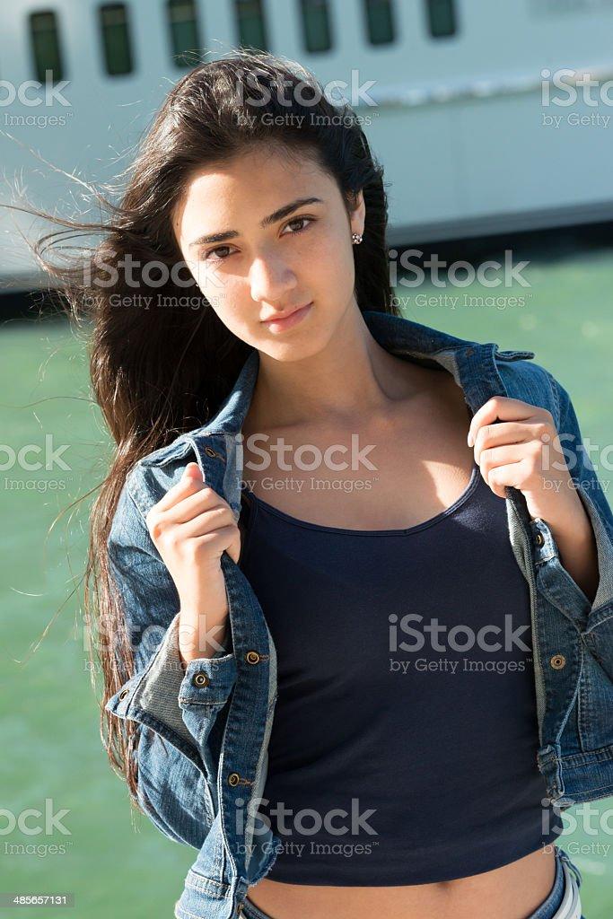Young hispanic girl stock photo