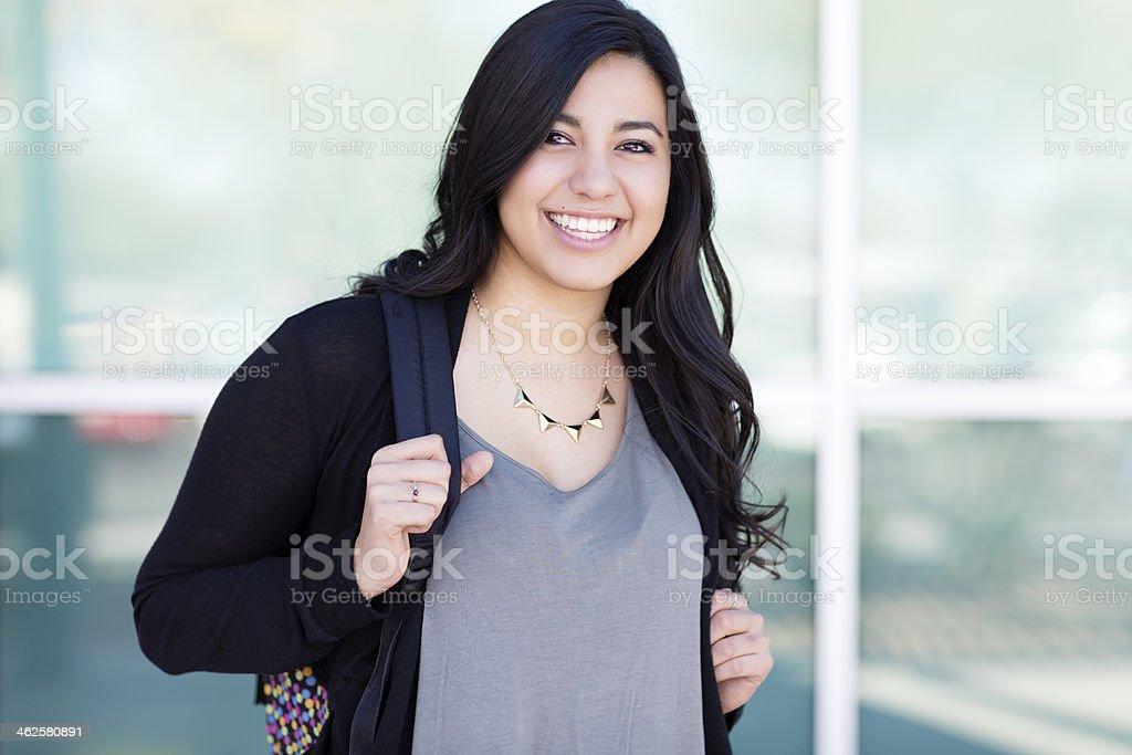 Young hispanic student. stock photo