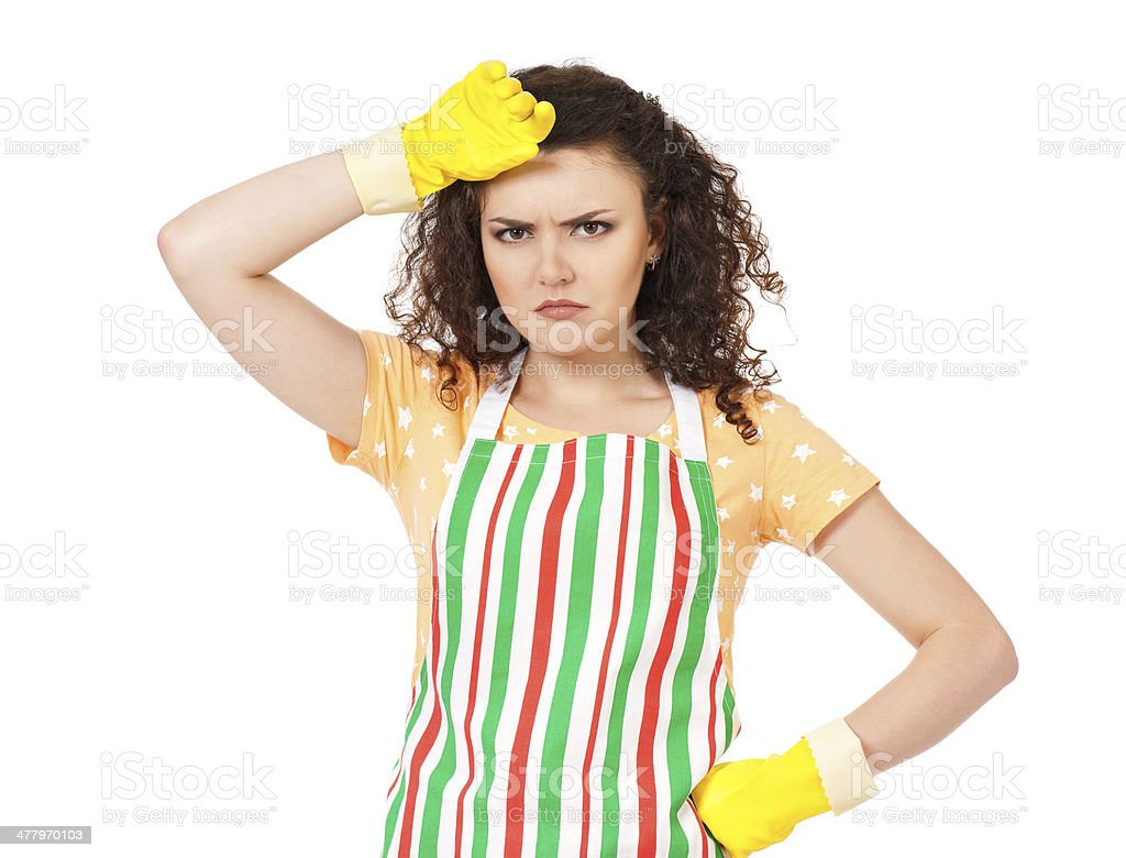 Young housewife royalty-free stock photo