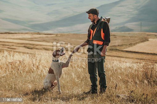 hunter and hunting dog