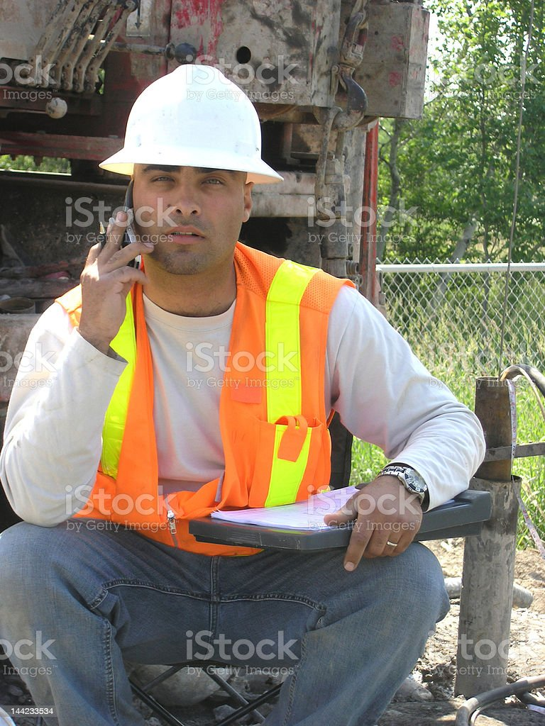 Young Hydrogeologist Field Engineer. royalty-free stock photo