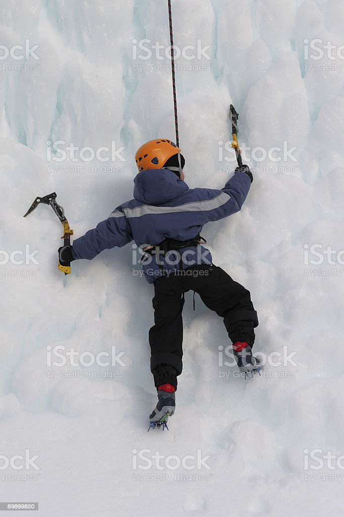 young iceclimber royalty-free stock photo