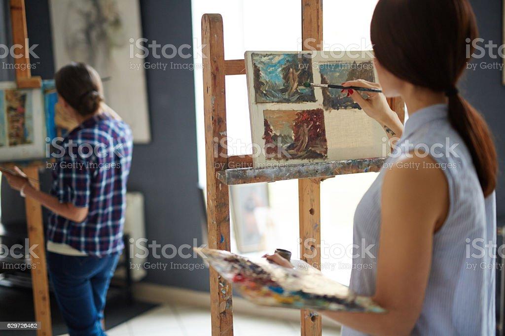 Young impressionist Lizenzfreies stock-foto