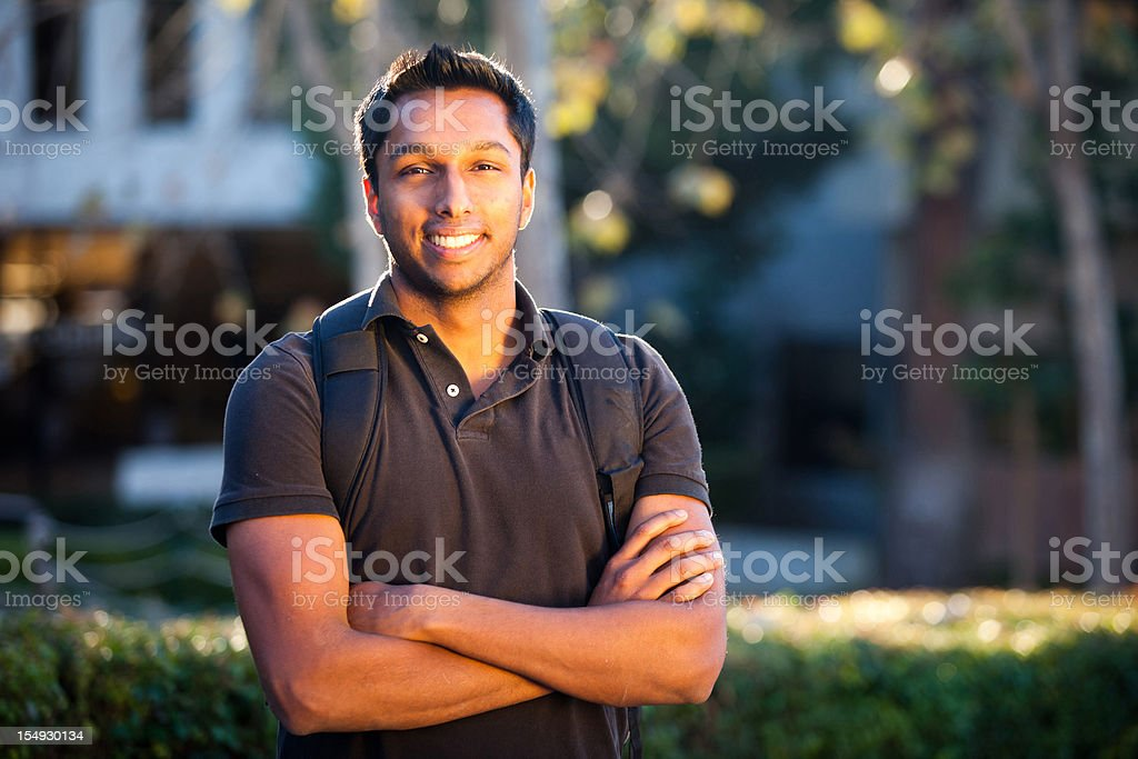 Young Indian College Student stock photo