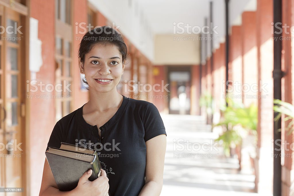 Young Indian Female University Student stock photo