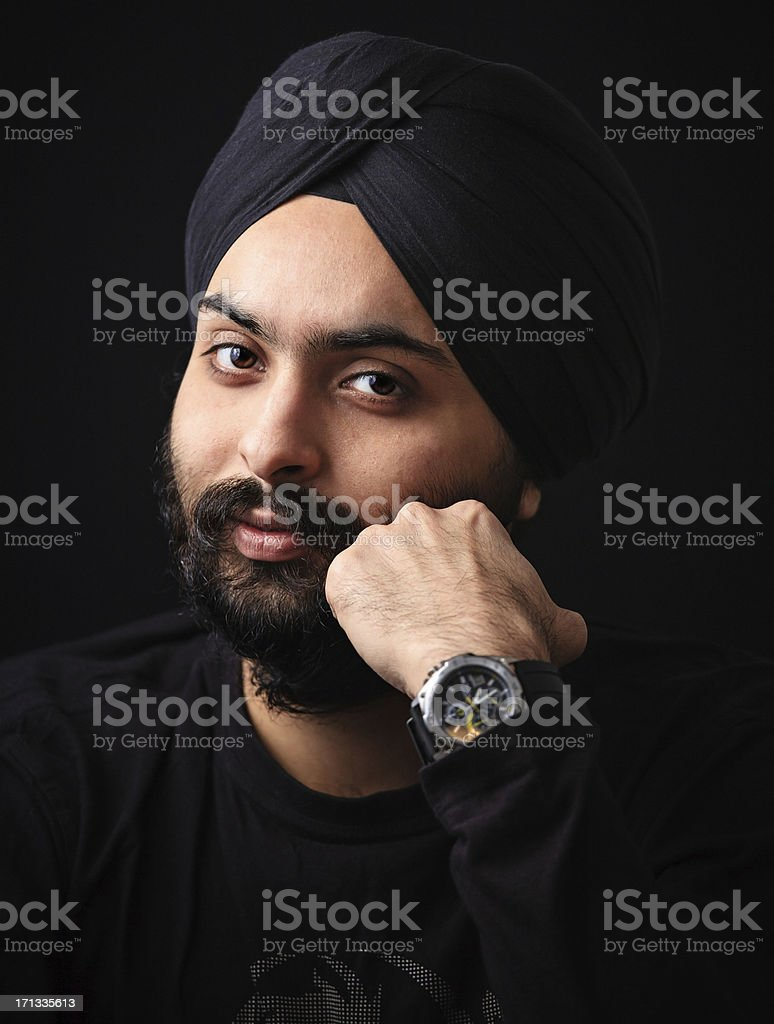Young Indian Sikh looking at camera royalty-free stock photo