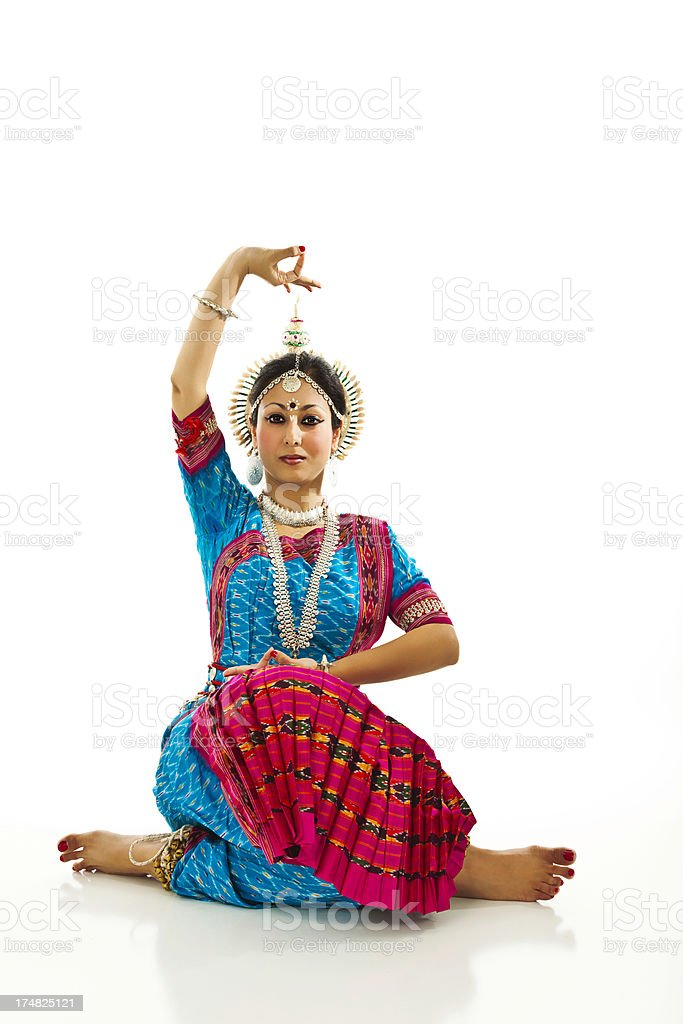 Young Indian Woman in Traditional Sari royalty-free stock photo