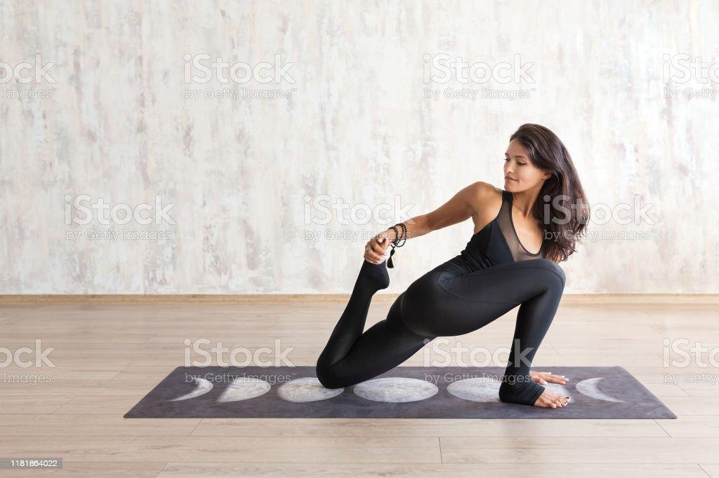 Young Indian Woman Practicing Yoga Yogi Class Stock Photo Download Image Now Istock