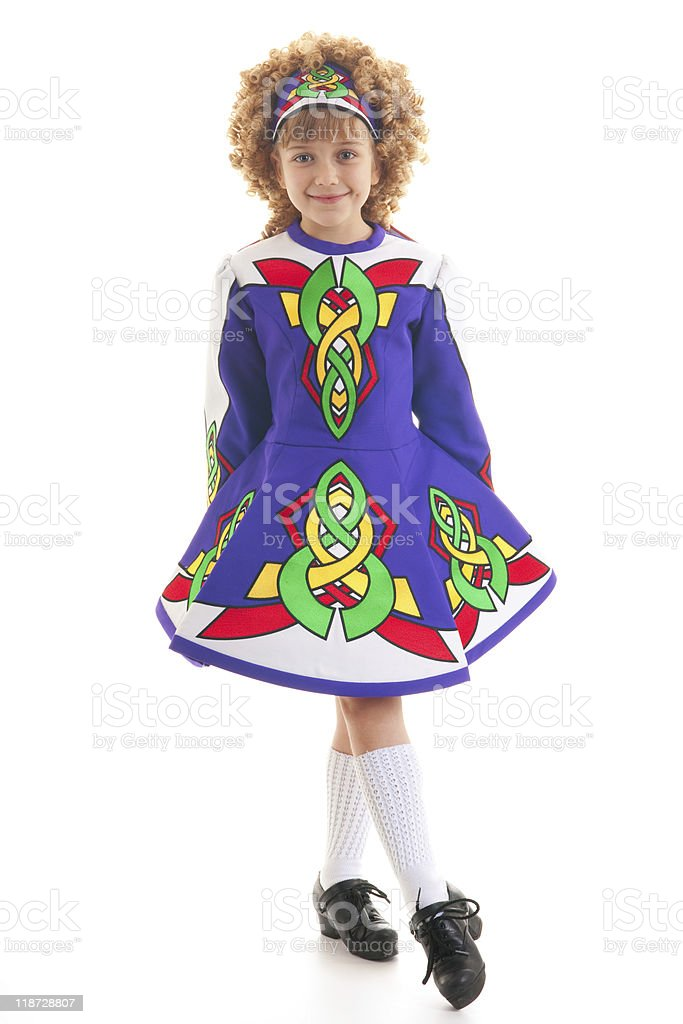 Young Irish dancer royalty-free stock photo