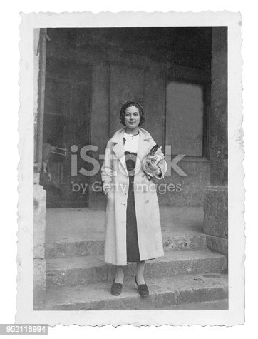 Young italian woman at the University in 1934