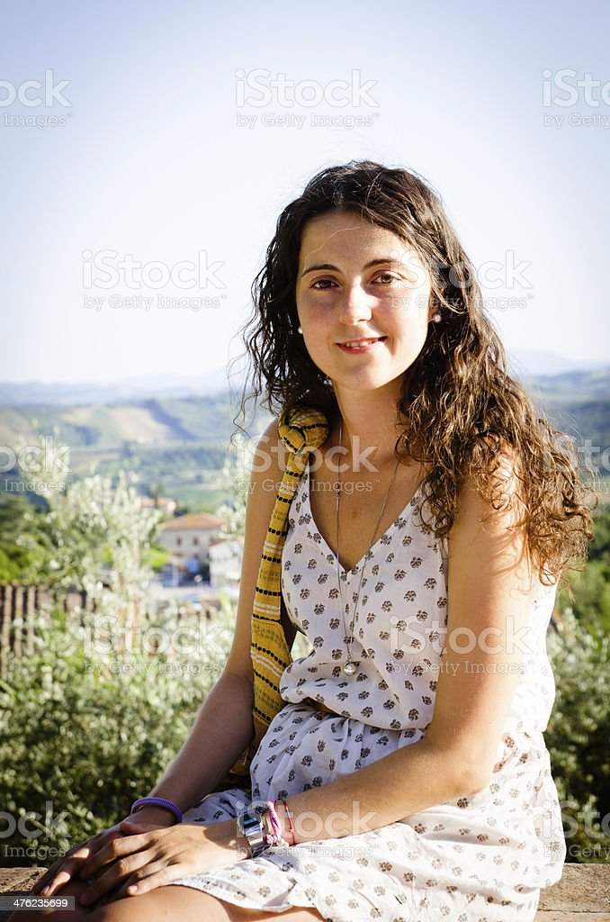 Young italian woman portrait royalty-free stock photo