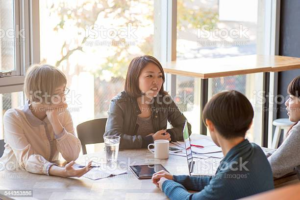 Young japanese ladies are on the bussiness meeting picture id544353886?b=1&k=6&m=544353886&s=612x612&h=73s2xaupig6vtjbrsvf2tvtajm4jxz3z7n3ququtrwg=