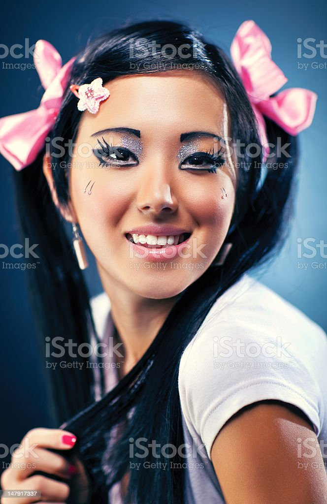 Young japanese woman portrait royalty-free stock photo