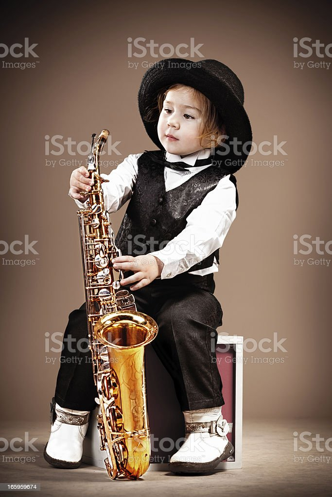 Young jazzman royalty-free stock photo