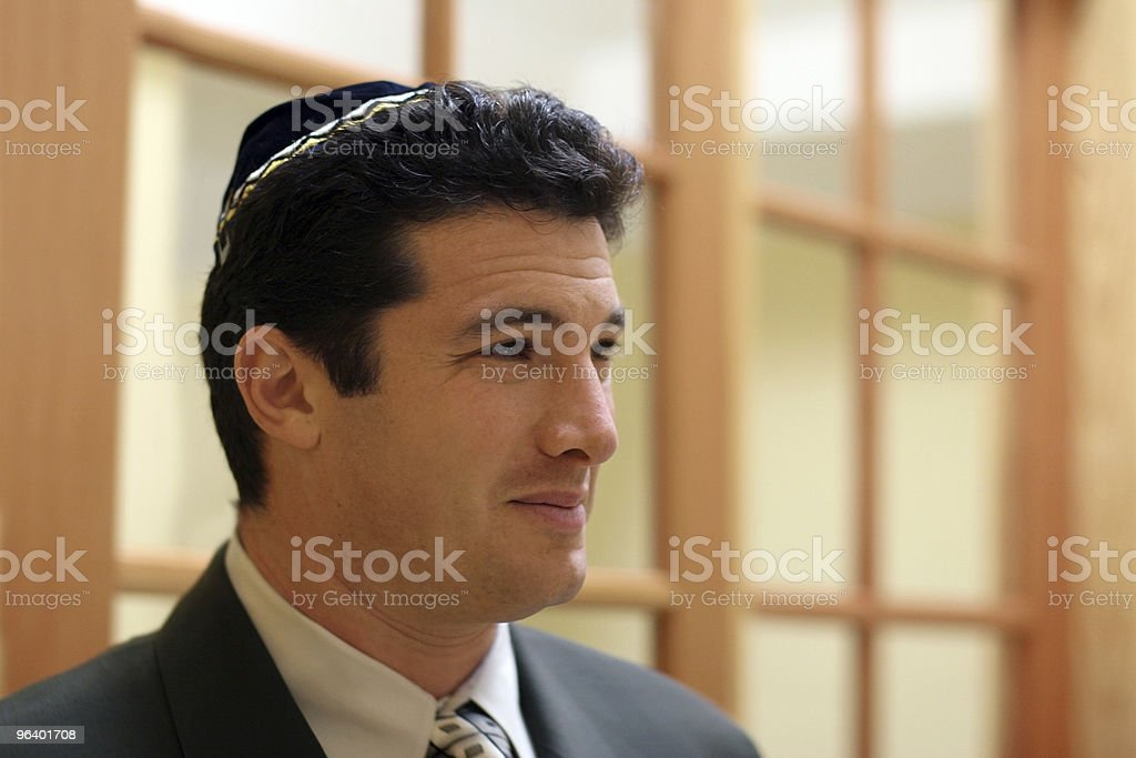 Young jewish man stock photo