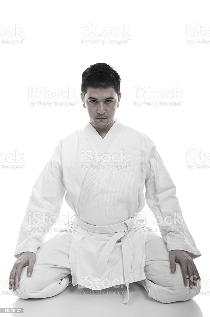 Young judoist royalty-free stock photo